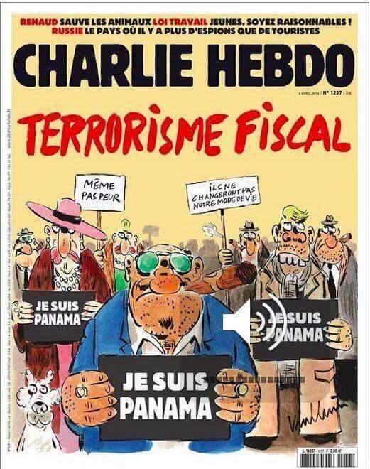 Portada Charlie Hebdo sobre los papeles de Panamá Imagen de la nueva portada de la revista satírica francesa Charlie Hebdo sobre los 'papeles de Panamá' (CHARLIE HEBDO)