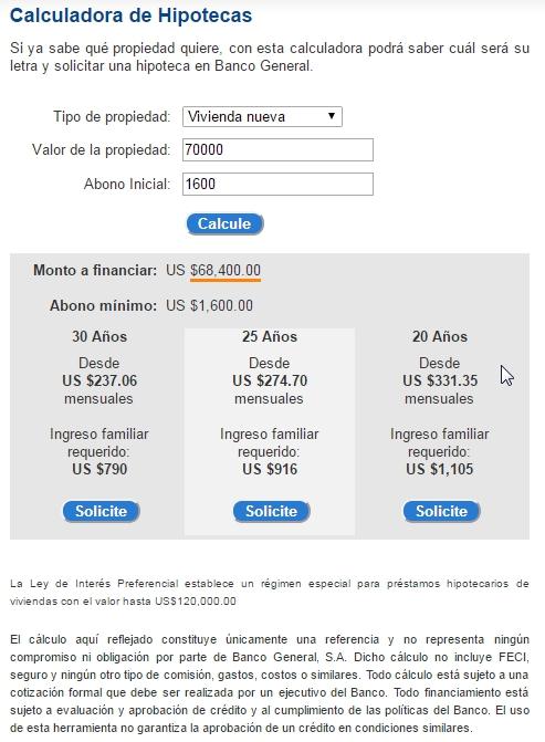 Calculo de Hipoteca